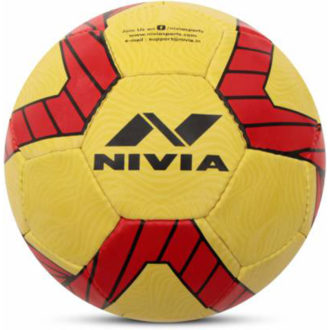 NIVIA Kross World (Germany) Football - Size: 5 (Pack of 1, Red, Yellow)